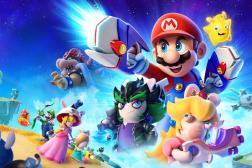 Pour la deuxième fois, Ubisoft a pu s'emparer de l'icône de Nintendo pour l'associer aux désopilants Lapins Crétins.