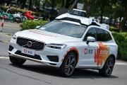 Un taxi autonome Didi, en test dans les rues de Shanghai (Chine), le 22 juillet 2020.