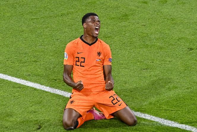 Le défenseur Denzel Dumfries a délivré les Pays-Bas contre l'Ukraine, dimanche 13 juin.