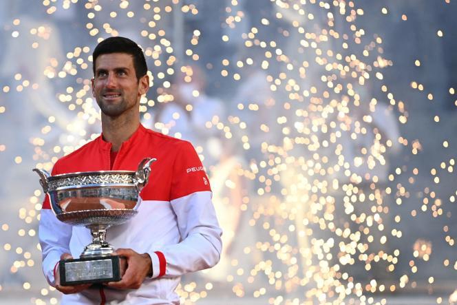 Novak Djokovic a battu Stefanos Tsitsipas en finale de Roland-Garros, à Paris, le 13 juin.