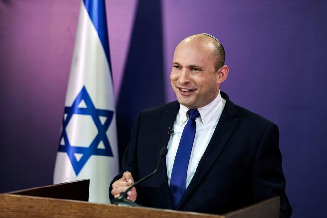 Naftali Bennett à la Knesset, le Parlement israélien, à Jérusalem, le 6 juin 2021.