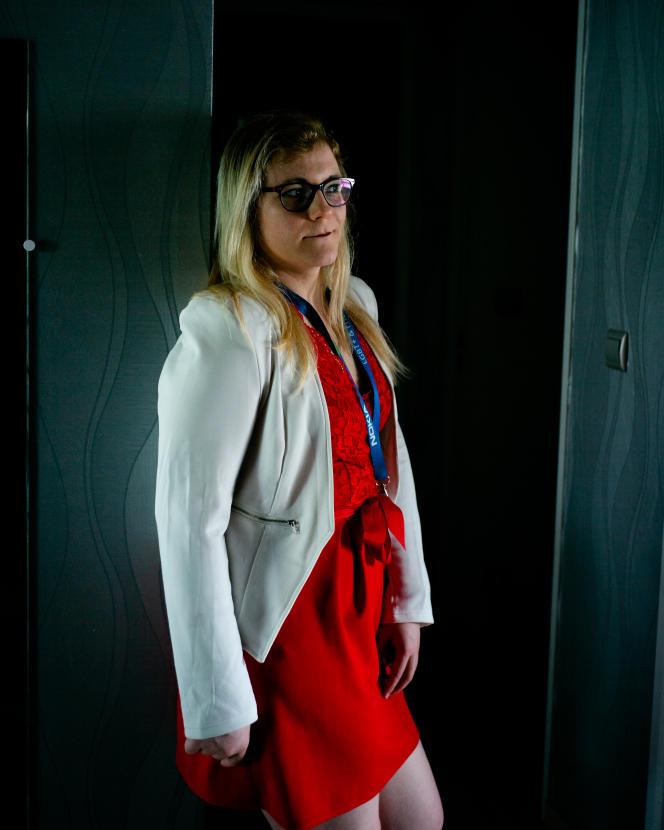 Laure Delahaye,employée chez Nokia à Paris-Saclay, le 7 juin 2021.
