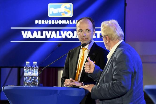 Le Parti des Finlandais de Jussi Halla-ahoa obtenu 14,5 %des votes lors des élections locales du pays, le 13 juin 2021.