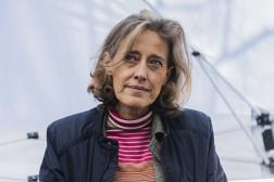 Alexandra Henrion-Caude à Paris, le 20 mars 2021, lors du rassemblement « Pourla liberté, stop à l'état d'urgence sanitaire».