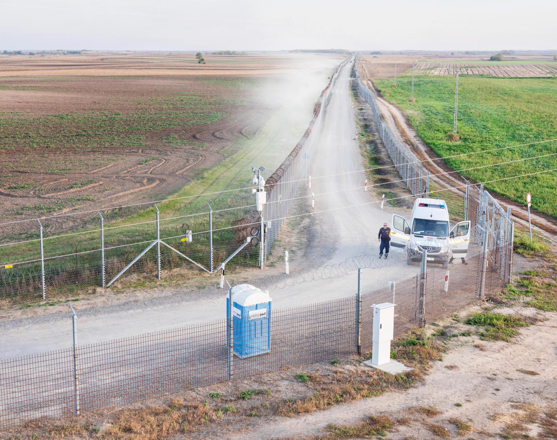 A Gara, la frontière entre Hongrie et Serbie.