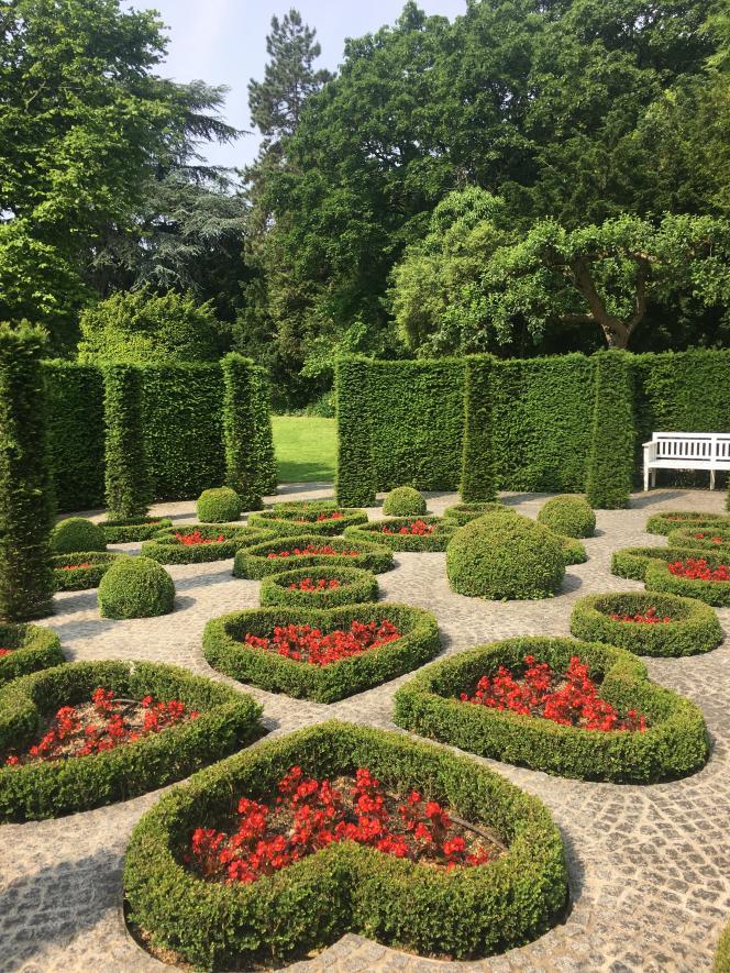 Le« jardin du cœur» du Musée Van Buuren, dans le quartier d'Uccle, à Bruxelles.