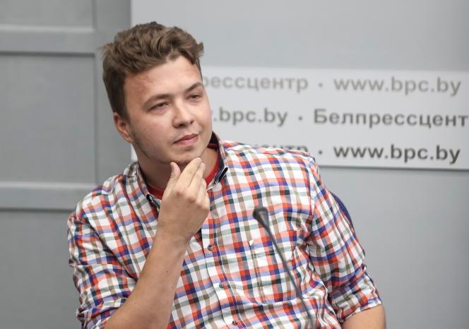 Depuis son arrestation, le journaliste a été exhibé plusieurs fois à la télévision publique, comme ici, le 14juin2021.