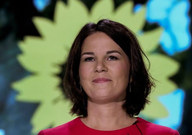 Annalena Baerbock, coprésidente du parti Vert allemand,après sa nomination en tant que candidate à la chancellerie du parti, à Berlin, en Allemagne, le 12 juin 2021.