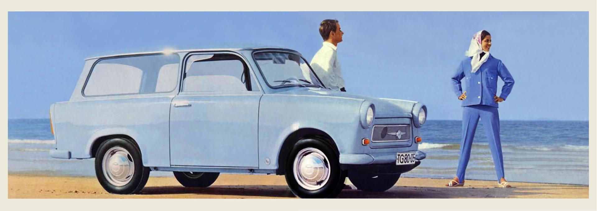 Publicité pour la Trabant 601 Universal (1965).