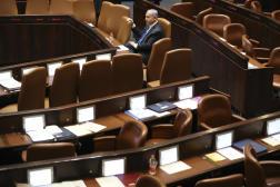 Le Premier ministre israélien sortant Benjamin Netanyahu lors d'une session de la Knesset à Jérusalem le dimanche 13 juin 2021.