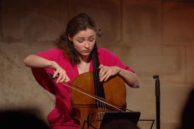Anastasia Kobekina, à Auvers-sur-Oise (Val-d'Oise), le 11 juin 2021.