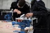 Des apprentis de l'Association pour la formation aux métiers de l'aérien, à Bonneuil-en-France (Val-d'Oise), le 27 janvier 2021.