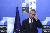 Le secrétaire général de l'OTAN, Jens Stoltenberg, lors d'une conférence de presse à Bruxelles, lundi 14juin.