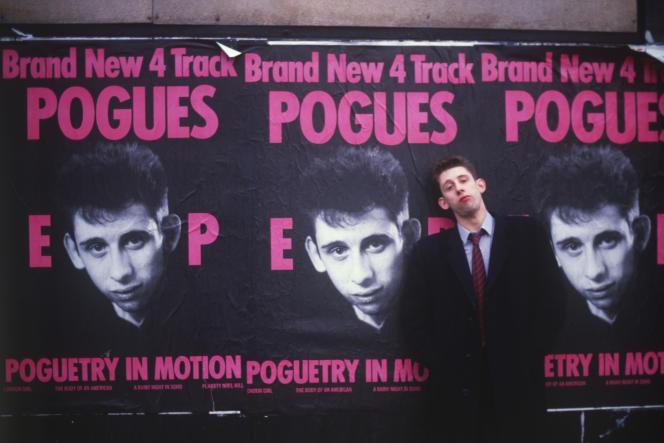 Le chanteur des Pogues, Shane McGowan, en1986.