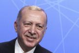 Le président turc Recep Tayyip Erdogan lors d'une conférence de presse, au sommet de l'OTAN, à Bruxelles, en juin 2021.