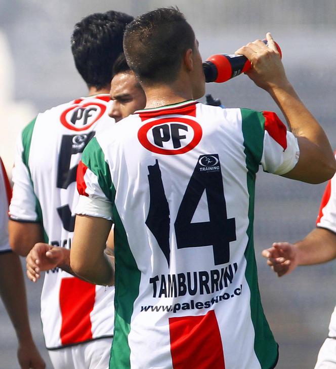 En janvier 2014, sur les maillots de club chilien Deportivo Palestino, une carte de la Palestine d'avant 1948 remplace le chiffre 1.