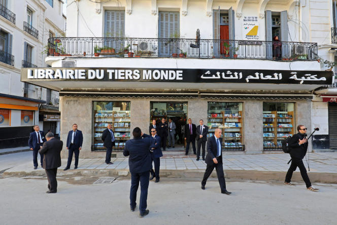 La Librairie du Tiers monde, à Alger, fin 2017, lors de la venue d'Emmanuel Macron.