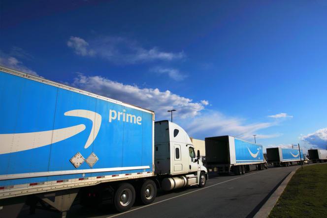 Un centre de distribution d'Amazon, à Staten Island, dans l'Etat de NewYork, le 21 avril 2020.