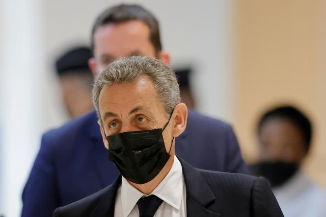 Nicolas Sarkozy at the Paris Criminal Court, June 15, 2021.