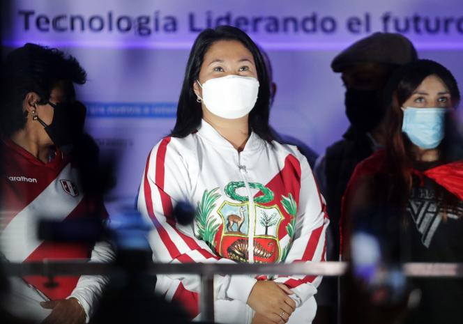 La candidate Keiko Fujimori le 12 juin à Lima lors d'une manifestation.
