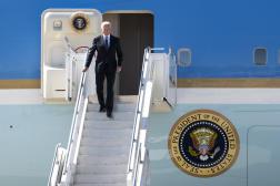 Le président américain, Joe Biden, à son arrivée à Genève, le 15 juin 2021.
