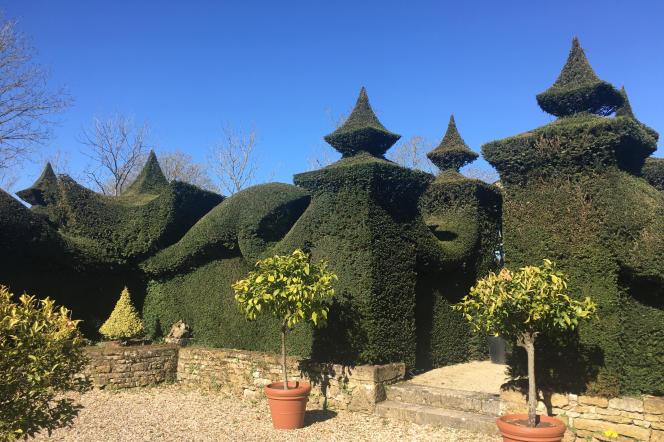 Vue du jardin anglo-chinois du chef d'orchestreWilliam Christie, à Thiré, en Vendée.