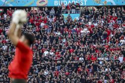 Au stade Ferenc-Puskas de Budapest, le 15 juin, lors du match Hongrie-Portugal.
