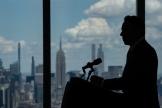 Le gouverneur de New York, Andrew Cuomo, lors d'une conférence de presse, le 15 juin 2021 à New York.
