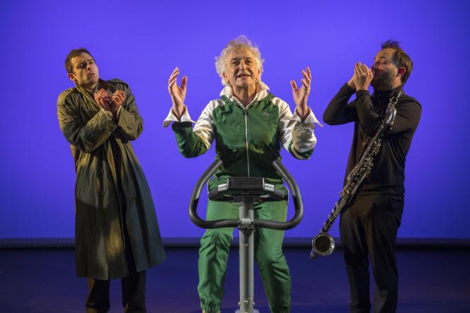 De gauche à droite, Loïc Renard, Serge Hureau et Clément Caratini dans le spectacle «Trenet le Revenant».