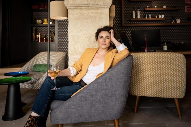 Elsa Lunghini, à l'hôtel des Remparts, à Aigues-Mortes (Gard), le 11 mai 2021