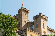 Le château de La Barben (Bouches-du-Rhône),propriété de Vianney d'Alançon, icile 14 juin 2021,accueillera les spectacles de Rocher Mistral.