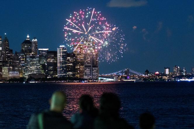 Dans le port de New York, vu de Jersey City, le 15juin 2021.