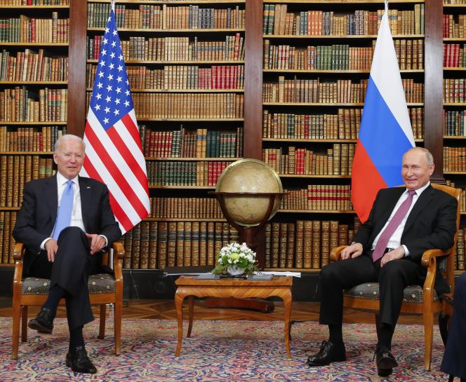 Joe Biden and Vladimir Putin in Geneva, June 16, 2021.