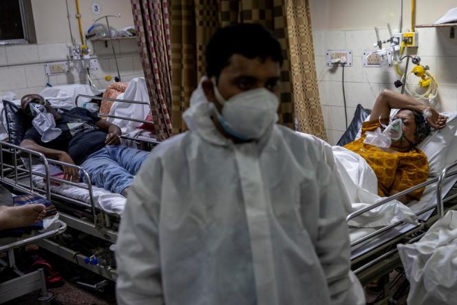 Dans un hôpital de New Delhi, le 1er mai 2021.