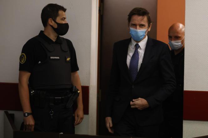 Rémy Daillet, soupçonné d'être impliqué dans le rapt de Mia en avril dans les Vosges, avant une audience devant le juge des libertés et des détentions le 16 juin 2021.