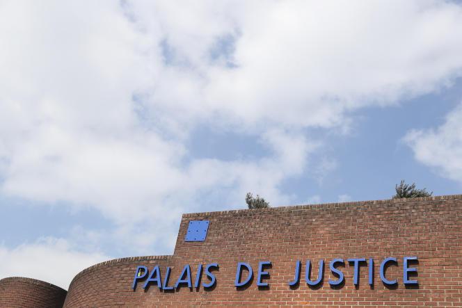 L'entrée du palais de justice du tribunal correctionnel de Bobigny, près de Paris, le 27mars2019.