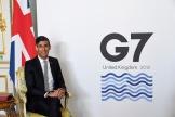 Rishi Sunak,chancelier de l'Echiquier britannique, lors du G7 finances, à Lancaster House, à Londres, le 5 juin 2021.