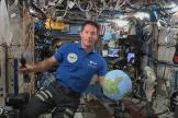 Thomas Pesquet,dans la Station spatiale internationale, le 30avril2021.
