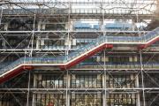 La« chenille» du Centre Pompidou, le 16 mars 2010.