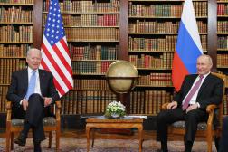 Joe Biden et Vladimir Poutine, à Genève, le 16 juin 2021.