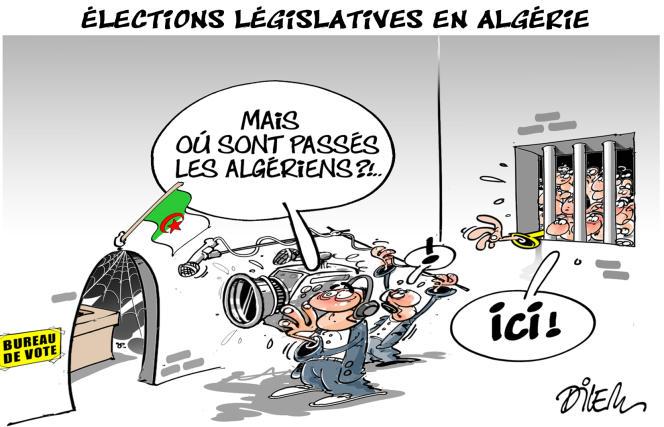 Dessin paru en « une » du « Monde » le 17 juin signé par le dessinateur algérien Dilem.