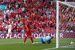 Kevin de Bruyne après son but, le 17 juin, contre le Danemark.