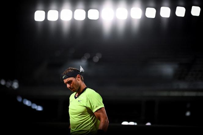 Rafael Nadal lors de la cinquième journée du tournoi de tennis Roland-Garros, le 3 juin 2021, à Paris.