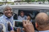 Laurent Gbagbo à son arrivée à Abidjan, jeudi 17 juin 2021.