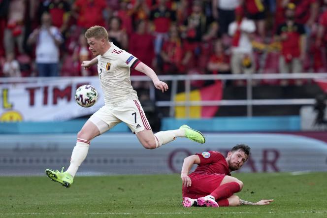 Kevin De Bruyne a survolé la rencontre contre le Danemark, le 17 juin.