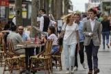 Sur l'avenue des Champs-Elysées, à Paris, jeudi 17 juin 2021.