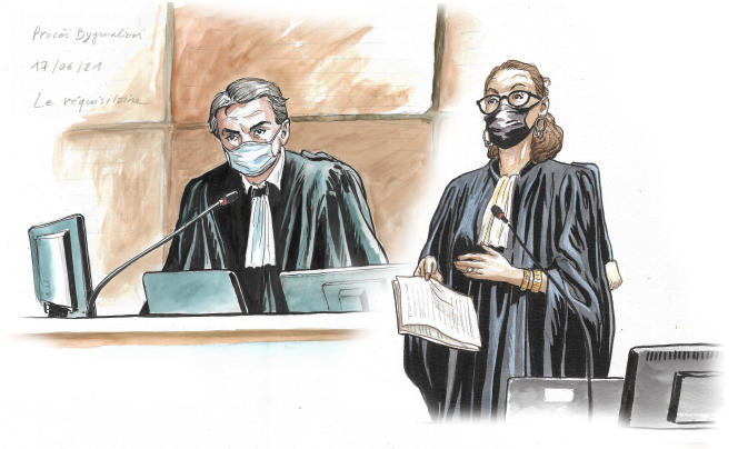 Les procureursNicolas Baietto et Vanessa Perrée lors du procès Bygmalion, le 17 juin 2021.