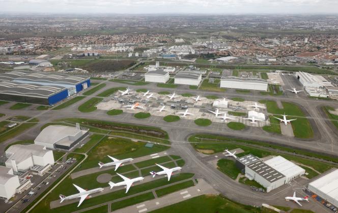 Vue de l'aéroport Toulouse-Blagnac international, à Blagnac (Haute-Garonne), le 12 mars 2021.