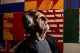 Gérard Fromanger dans son exposition «Figuration narrative» au Grand Palais à Paris, le 11 avril 2008.