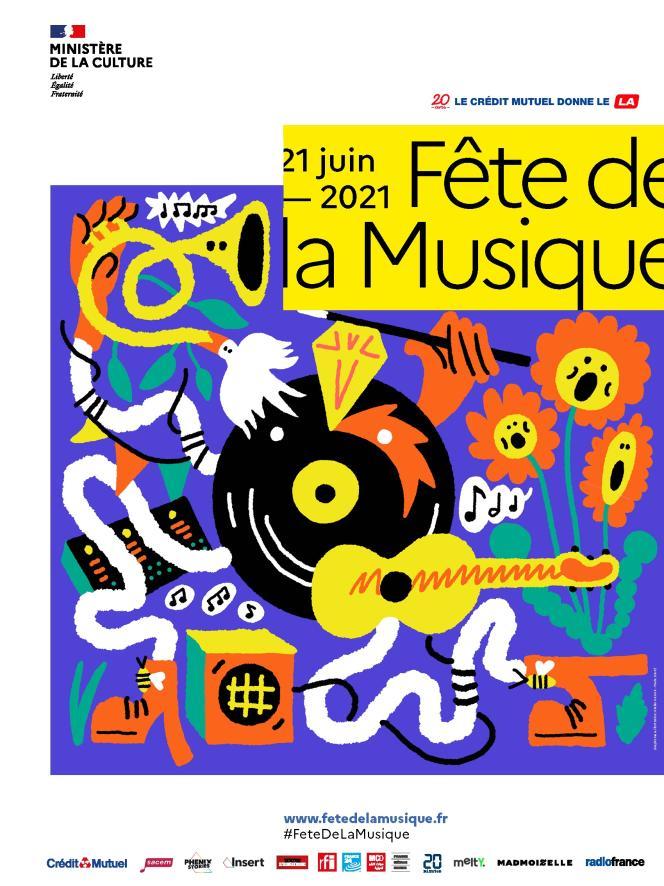 Affiche de La Fête de la musique 2021.